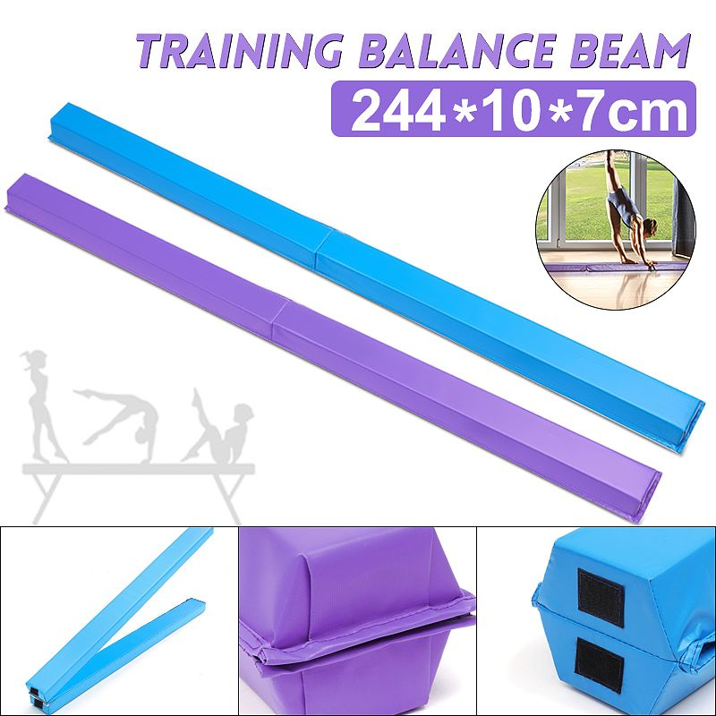 244X10X7cm Folding Women Balance Beam Balance Beam Cushion Adult Children's Gymnastics Gym Training Equipment For Somersault
