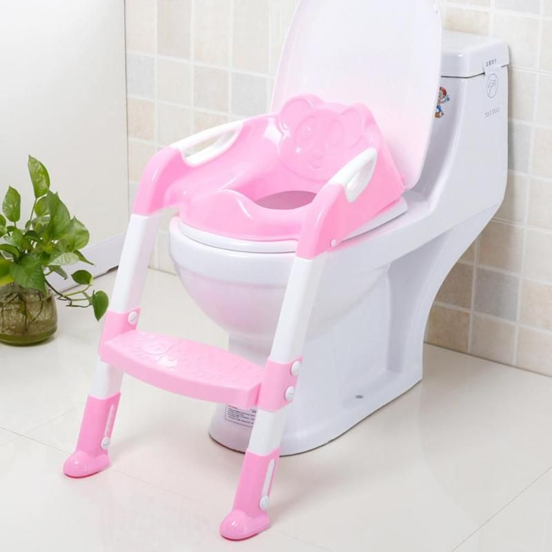 Children Toilet Training Potties Seat Baby Toilet Bowl Urinal with Handle Adjustable Ladder Infant Baby Potty Training Chair Toy