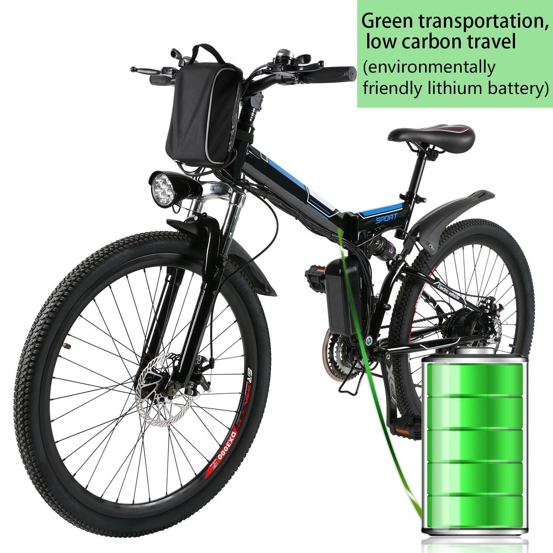 ANCHEER 26 zoll 36 V Faltbare Elektrische Power Berg Fahrrad Radfahren mit Lithium-Ionen Batterie Wasserdichten Rahmen