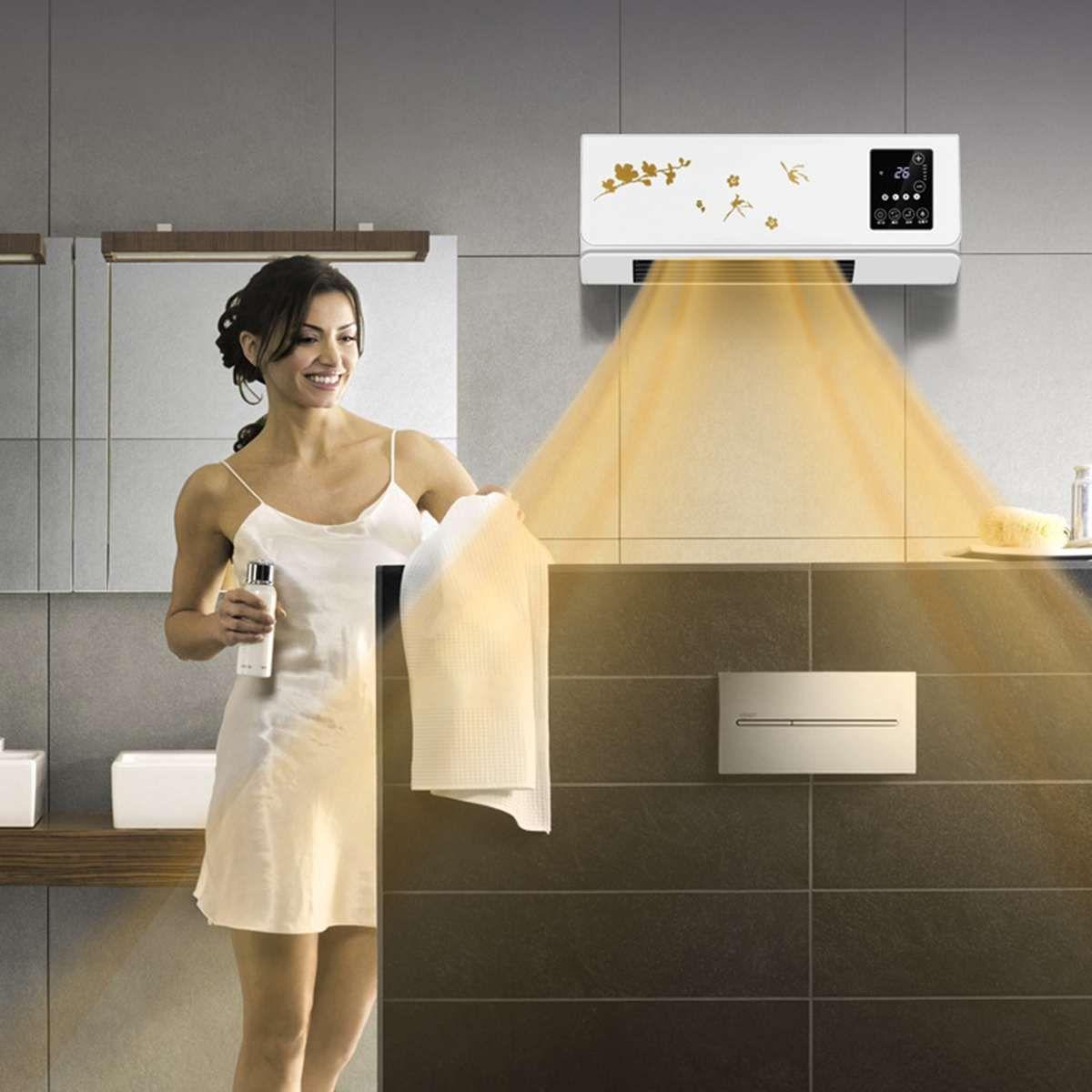 220 v 2KW Hause Wand Montiert Klimaanlage Heizung Warme Heizung Und Kühler Fernbedienung