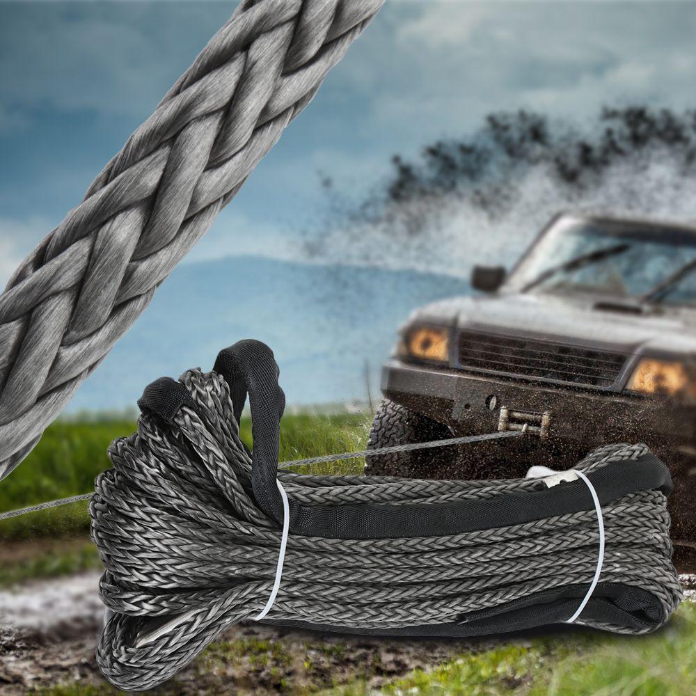 Original Synthetische Winde Seil Linie 10mm x 30m Recovery Kabel Auto Waschen Wartung String für ATV UTV Off -straße