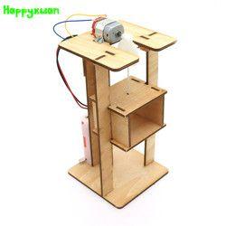 Happyxuan Listrik Pasang Sendiri Lift Lift Kids Mainan Percobaan Kit Mainan Anak Kreatif Batang Inovasi Pendidikan Proyek Sekolah