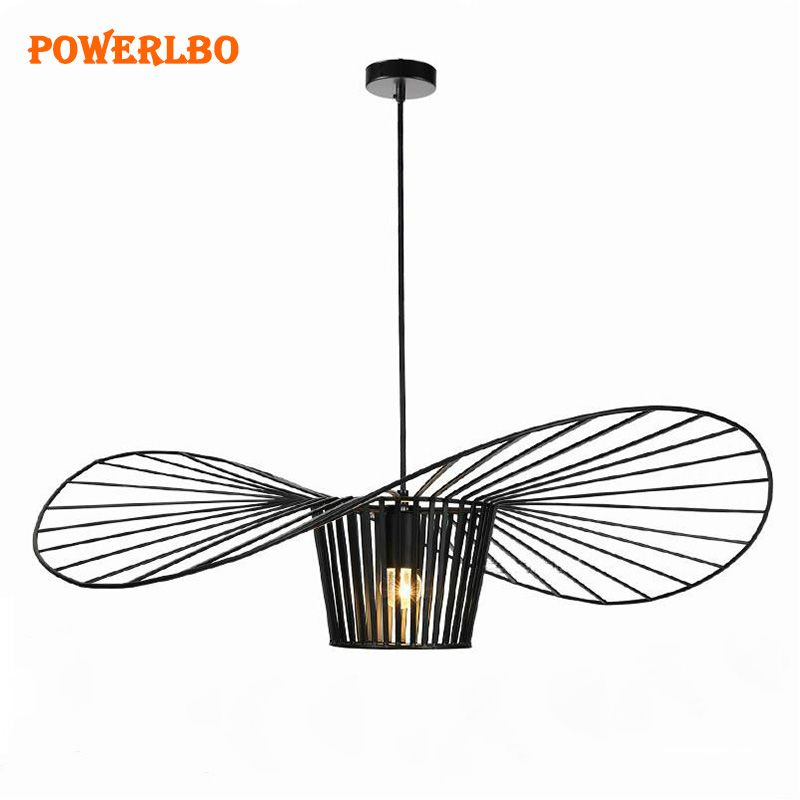 LED Industrial pendant lights Iron Straw Hat Personality Living Room Dining Room Restaurant Bar Counter Restaurant Lamp E27