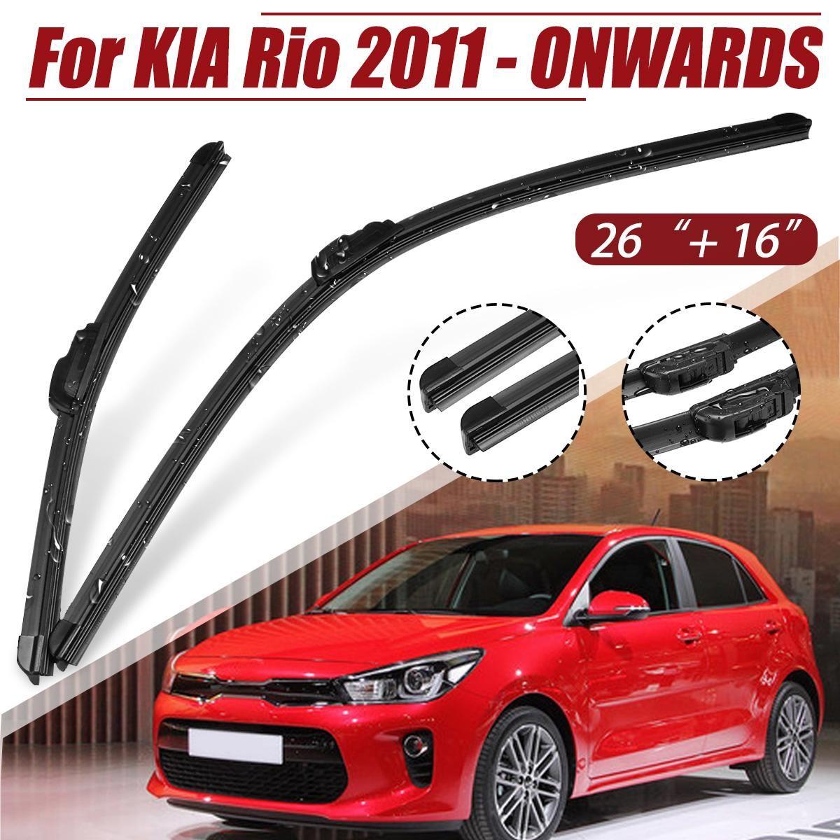 16 zoll 26 zoll Auto Vorne Links & Rechts Windschutz Fenster Scheibenwischer Klingen Set Für KIA Rio 2011- 2018