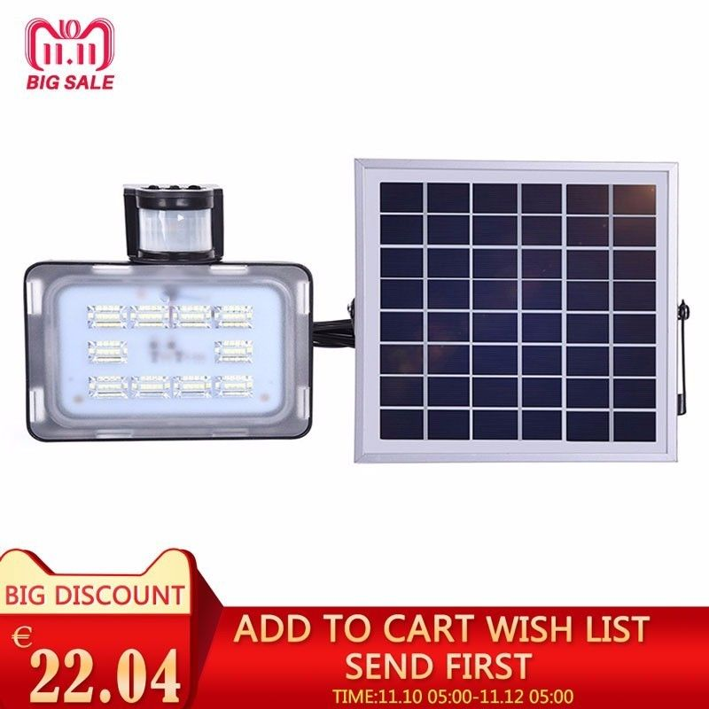 12/24V 10W 20W 30W 50W solar light PIR motion sensor led floodlight solar power with solar panels for garden solar light led