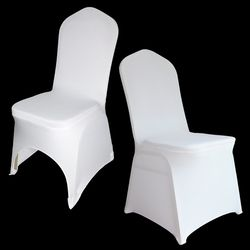 Chair Cover for Weddings 50 / 100 / 150 PCS Wedding Spandex Chair Covers White Stretch Universal Polyester Banquet Restaurant