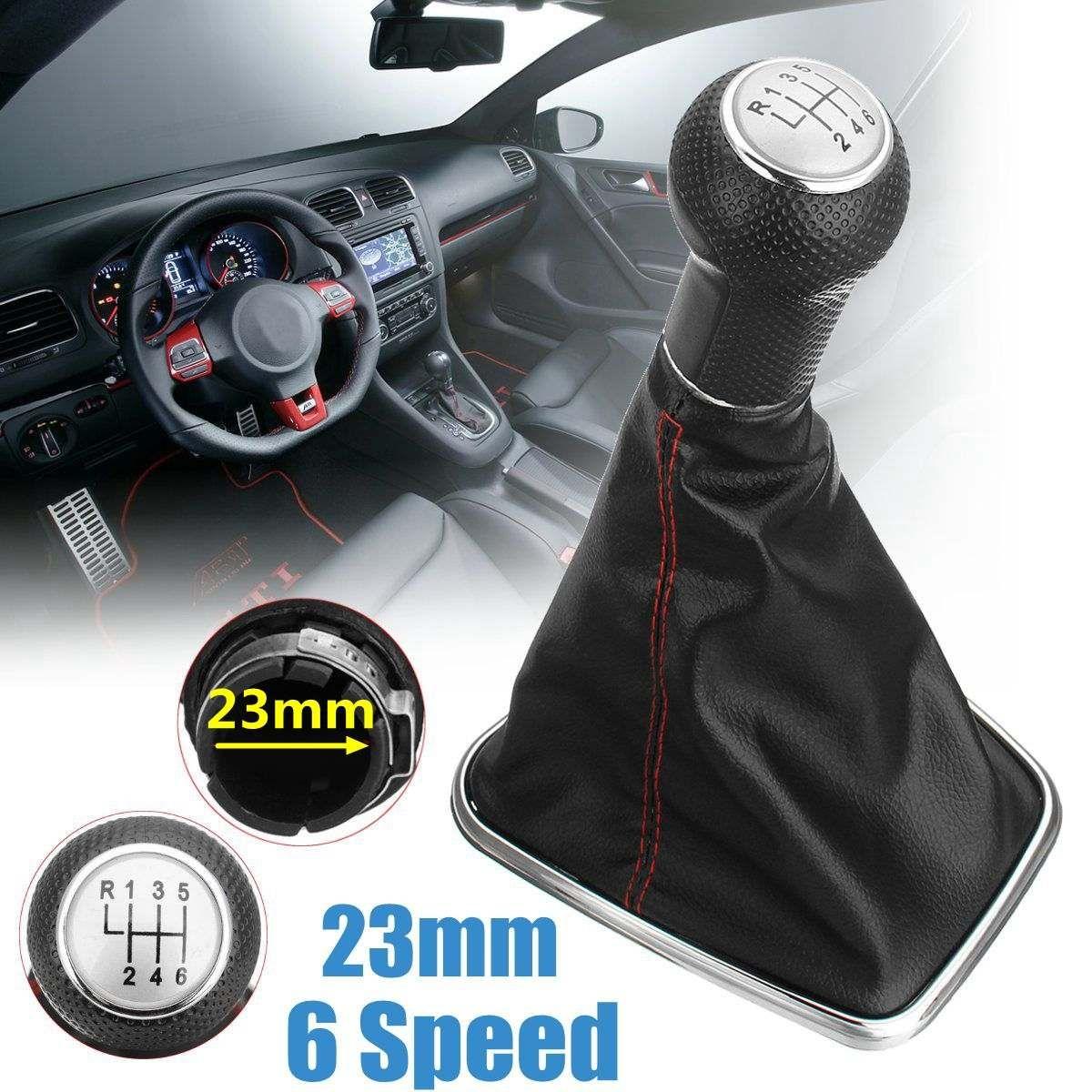 12/23mm 5/6 Geschwindigkeit Schaltknauf Shift w/Gamasche Boot Abdeckung Für Volkswagen VW BORA GOlf MK4 1999 2001 2002 2003 2004 2005