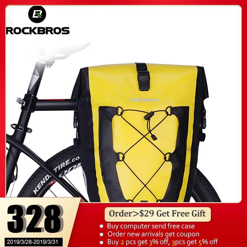 ROCKBROS Radfahren Bike Bag Wasserdichte Fahrrad Gepäckträger Tasche Schwanz Sitz Stamm Taschen Pannier 27L Großen Korb Fall MTB Bike zubehör
