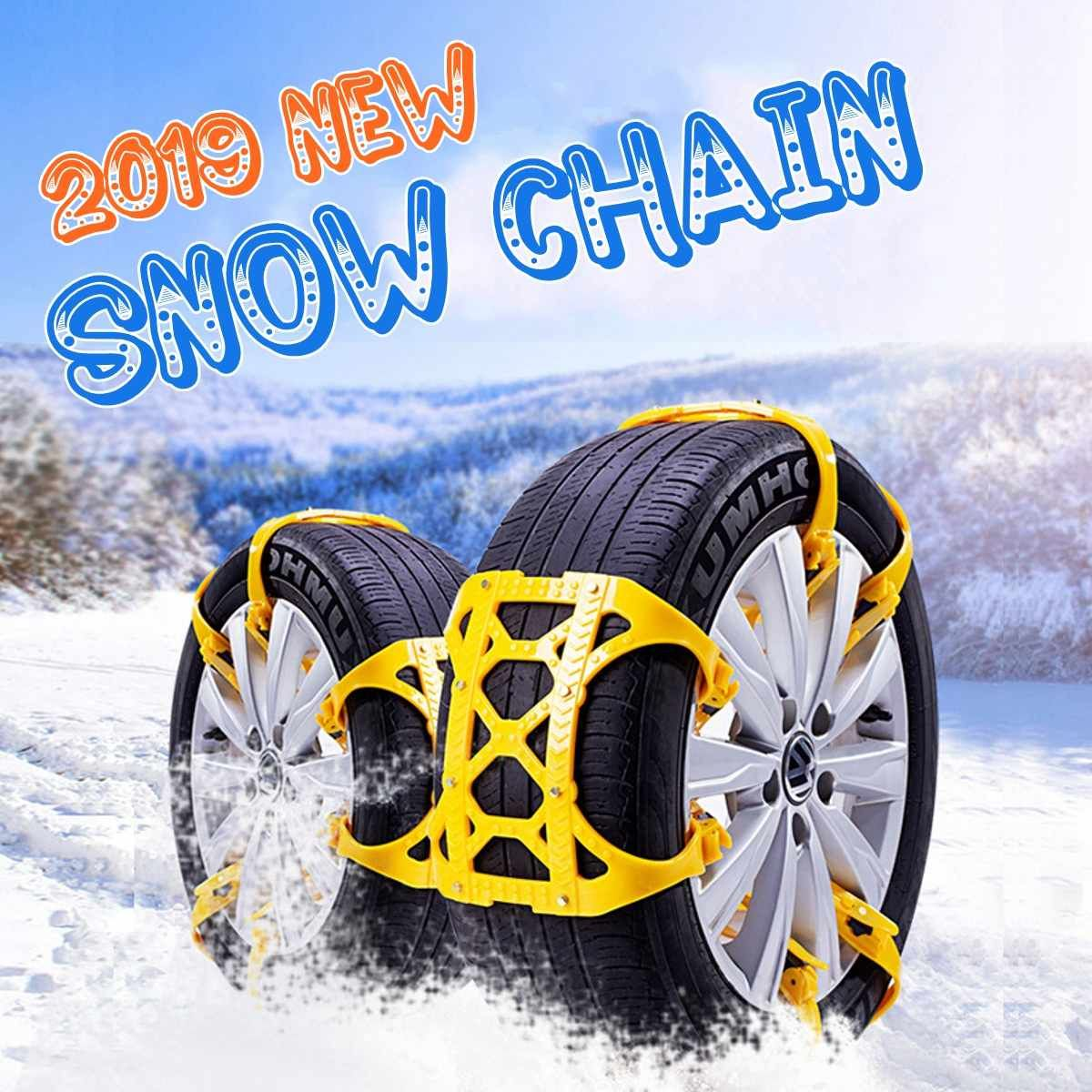 6pcs set Thicken General Automobile Tire Chain TPU Snow Chain Universal Car Suit For off-road SUV Safety Anti-slip Mud Snow Chai