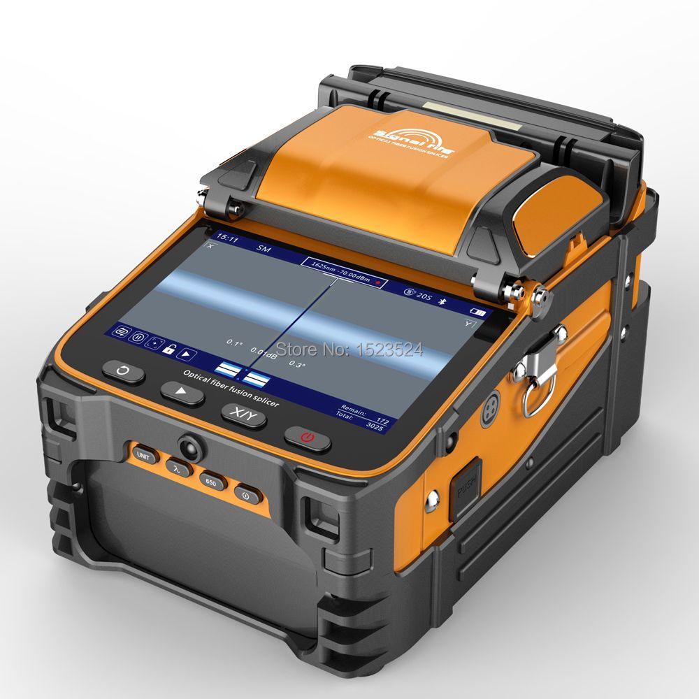 AI-9 Multi-sprache Automatische Sechs Motoren Intelligente FTTH Fiber Optic Setzmaschine Optische Faser Fusion Splicer