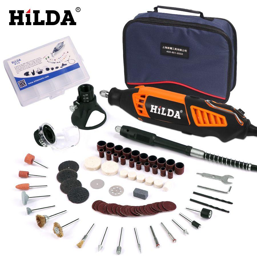 HILDA 180W électrique Mini perceuse à vitesse Variable outil rotatif pour Dremel Mini meuleuse électrique Dremel accessoires perceuse