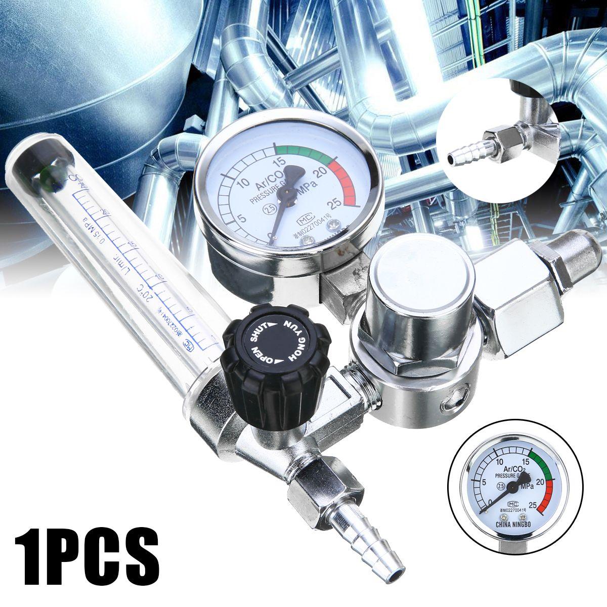 Argon CO2 Mig Tig Flow Meter Gas Regulator Flowmeter Welding Weld Gauge Argon Regulator Oxygen Pressure Reducer Color Random