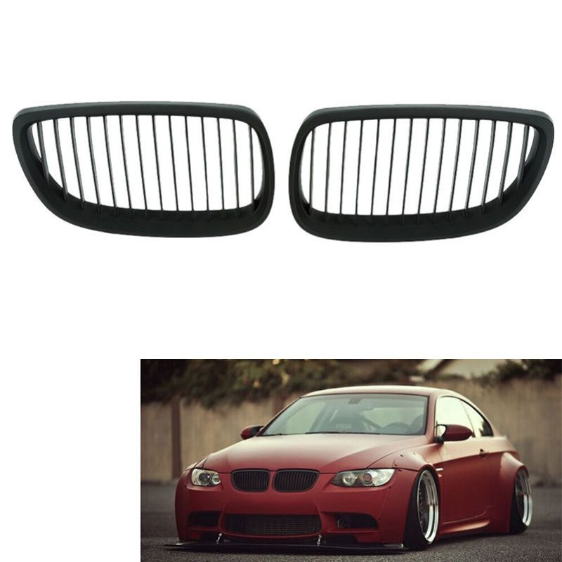 2x Front Bumper Kidney Grille Grill For 06-09 Bmw E92 E93 M3 2-dr Coupe Durable
