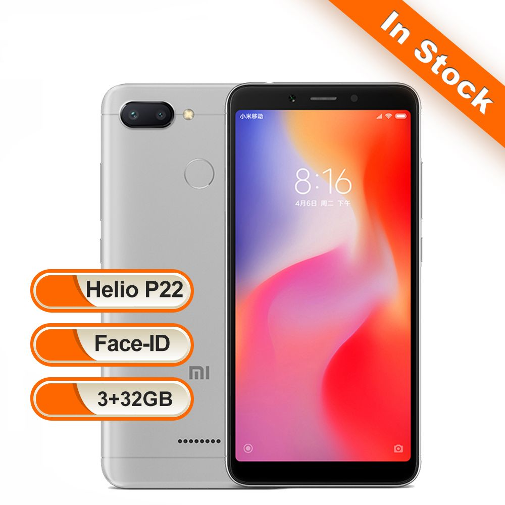 Xiaomi Redmi 6 3GB 32GB Global Version Mobile Phone Octa Core 5.45