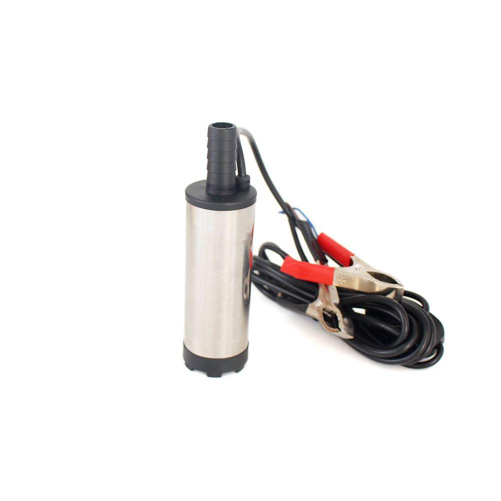 Pompe submersible électrique de 12 V 24 V DC pour pomper l'eau de gazole, pompe de transfert de carburant, coquille d'acier inoxydable, 12L/min, 12 24 V volt