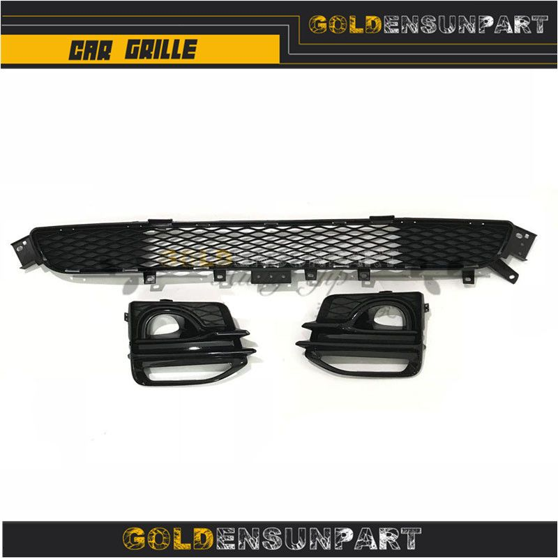 For 14-Up Infiniti Q50 Factory Style Front Bumper Lower Radiator Grille Cover and fog light grille