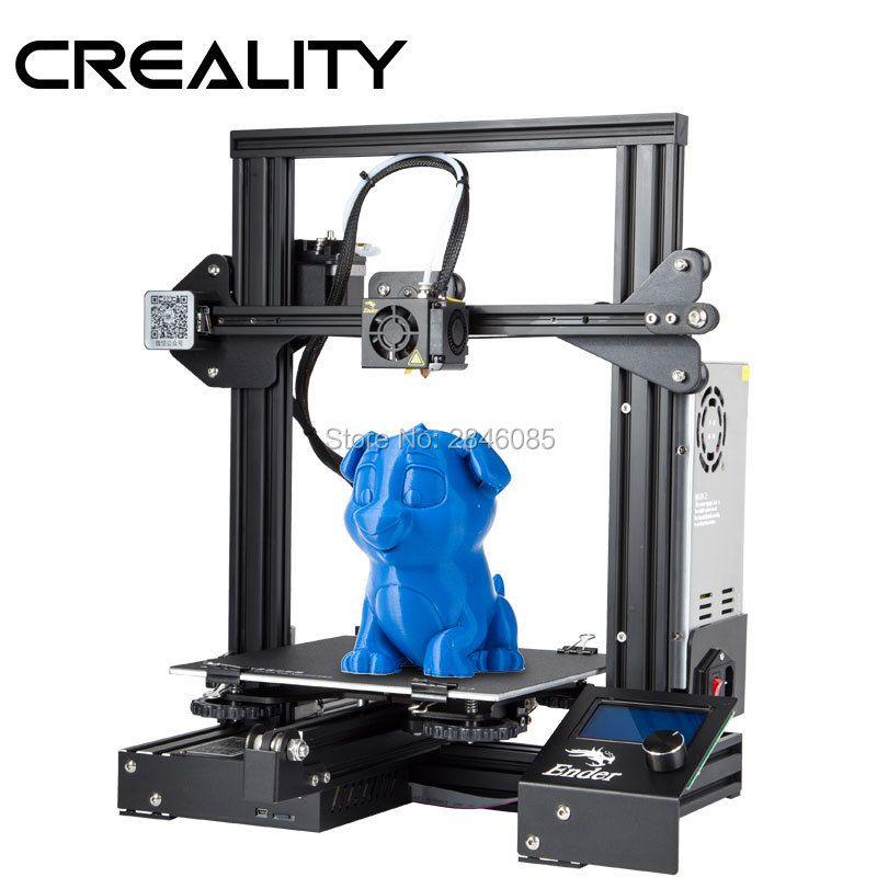 CRÉALITÉ 3D Imprimante Ender-3/Ender-3X Amélioré Trempé Verre En Option, v-fente pour Reprendre le Pouvoir Échec Impression DIY KIT Foyer