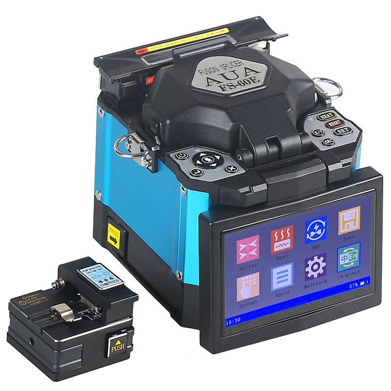 2019 neue produkt förderung AUA FTTH Fiber Optic Schweißen Spleißen Maschine Optische Faser Fusion Splicer FS-60E
