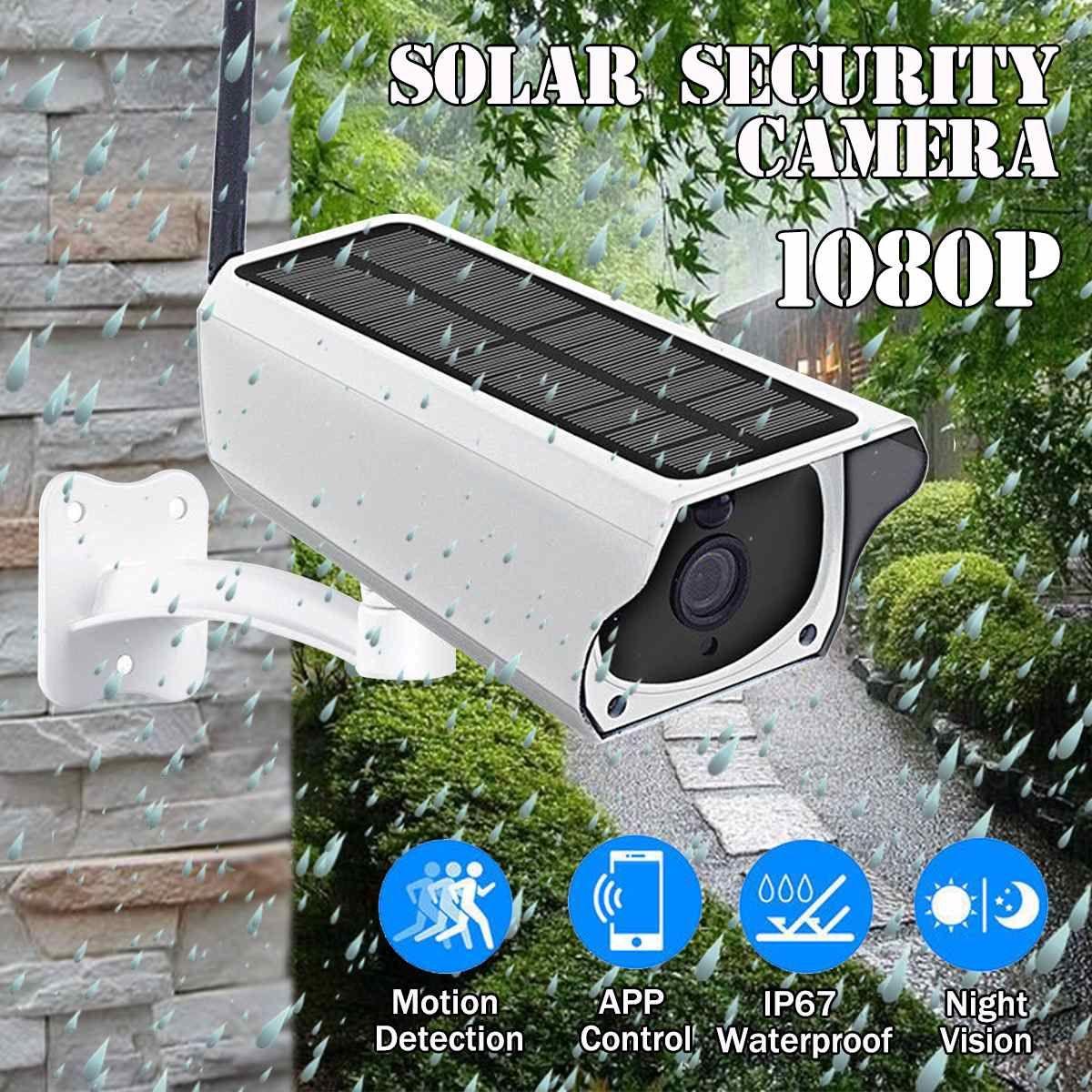 1080 P Solar IP Kamera 2MP Drahtlose Wi-fi Sicherheit Überwachung Wasserdichte Außen Kamera IR Nacht Vision Solar Power HD Kamera