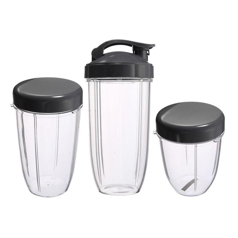 3 pcs tasses de rechange 32 Oz Colossal + 24 Oz de haut + 18oz petite tasse + 3 couvercles pour Nutribullet fruits presse-agrumes pièces appareil de cuisine B