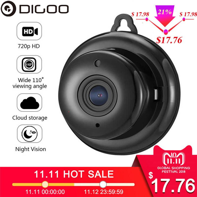 DIGOO DG-MYQ 2.1mm Lens 720P Wireless Mini WIFI Night <font><b>Vision</b></font> Smart Home Security IP Camera Onvif Monitor Baby Monitor