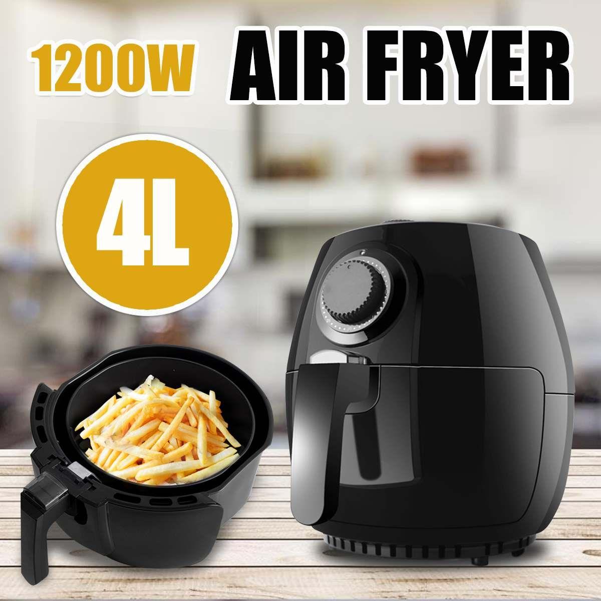 4L 1200 W Elektrische Luft Friteuse Haushalts Intelligente Französisch Frites Oilless Heathly Herd Französisch Gebraten Kein Öl Friteuse