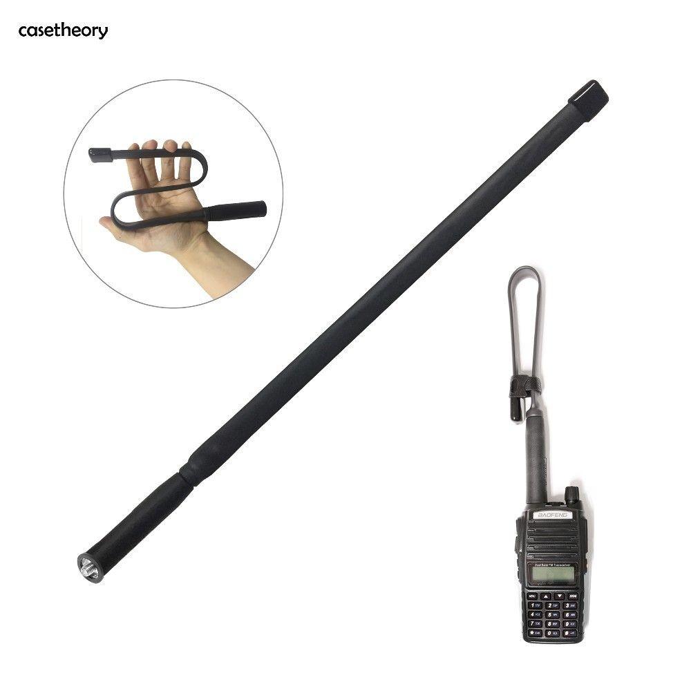 casetheory Foldable CS Tactical Antenna SMA-Female Dual Band VHF UHF 144/430Mhz Gain Ruler For Walkie Talkie Baofeng UV-82 UV-5R