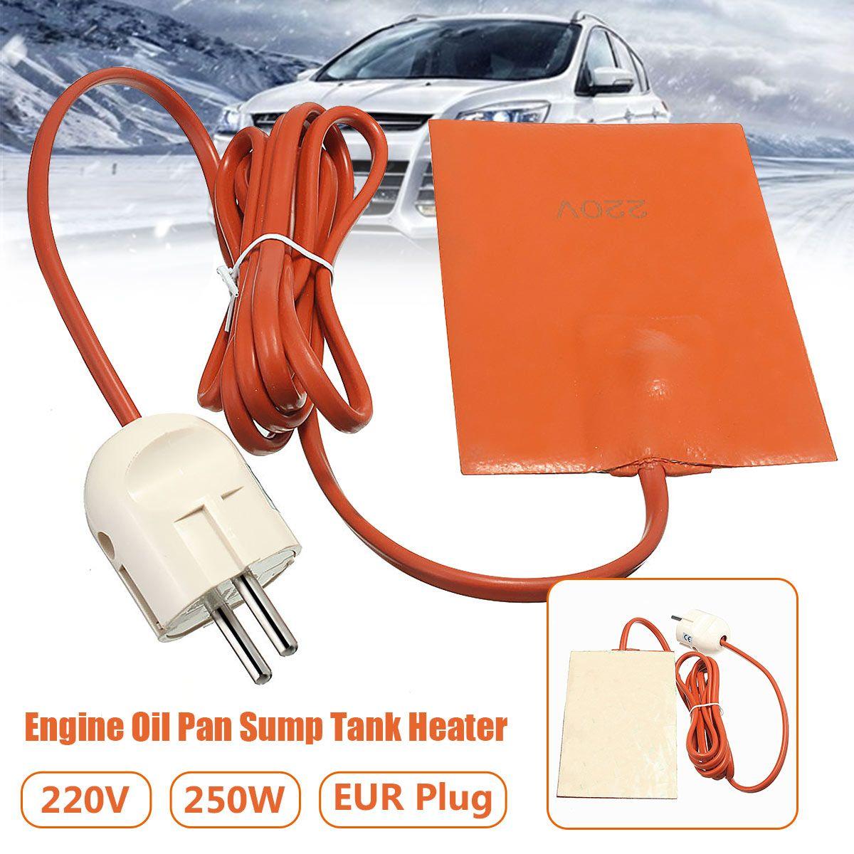 250 w Chauffe Silicone Pad Bloc Moteur Hydraulique Réservoir Plaque Chauffante Carter Carter D'huile Réservoir Chauffe-Pad Avec L'UE Plug 220-240 v 9x13 cm
