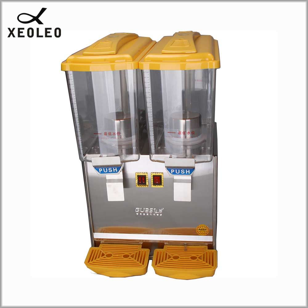XEOLEO Double jars Cold drink machine 17L*2 fruit juice dispenser beverage machine 280W heating 1000W Cool beverage maker