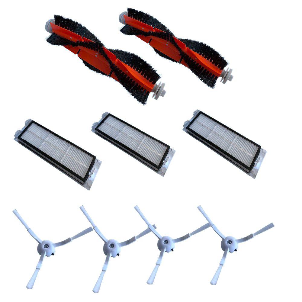 9-PACK filtre HEPA Côté Brosse Brosse principale pour Xiao mi Roborock mi S50 S51 S55 S5 Xiaowa Vide nettoyeur De Rechange accessoires
