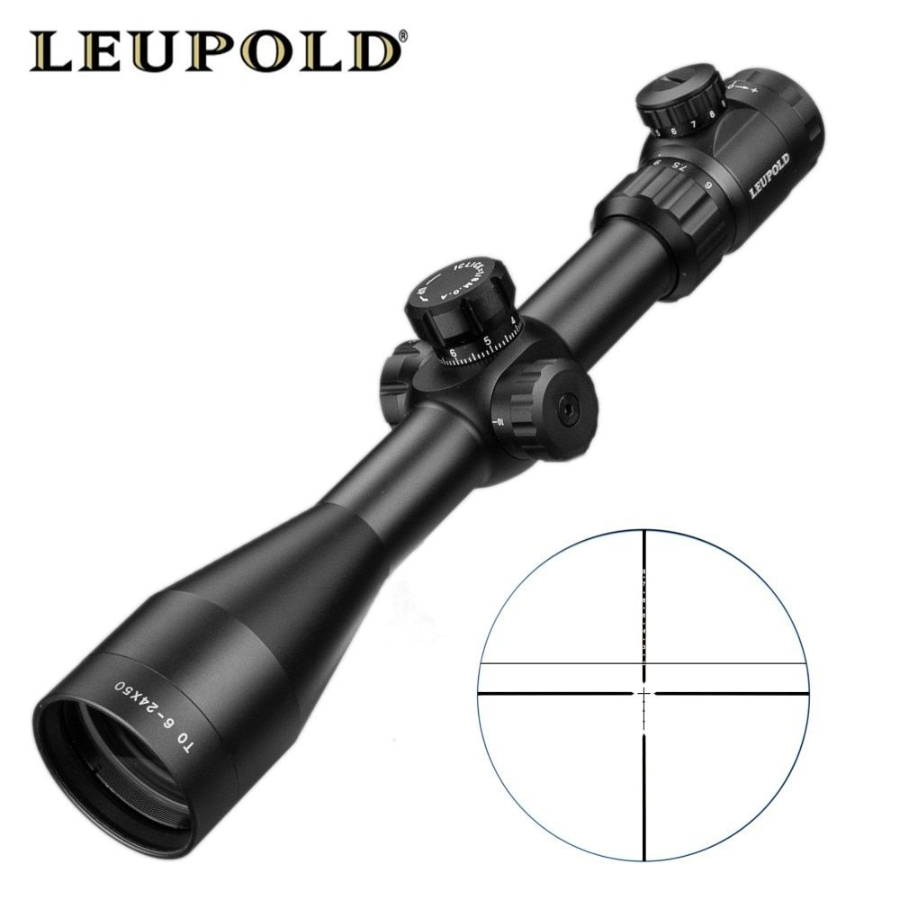 TO 6-24X50 SFIR Optics Riflescope Hunting Scope Mil-dot Reticle Tactical Scope Riflescopes For Airsoft Air Rifles