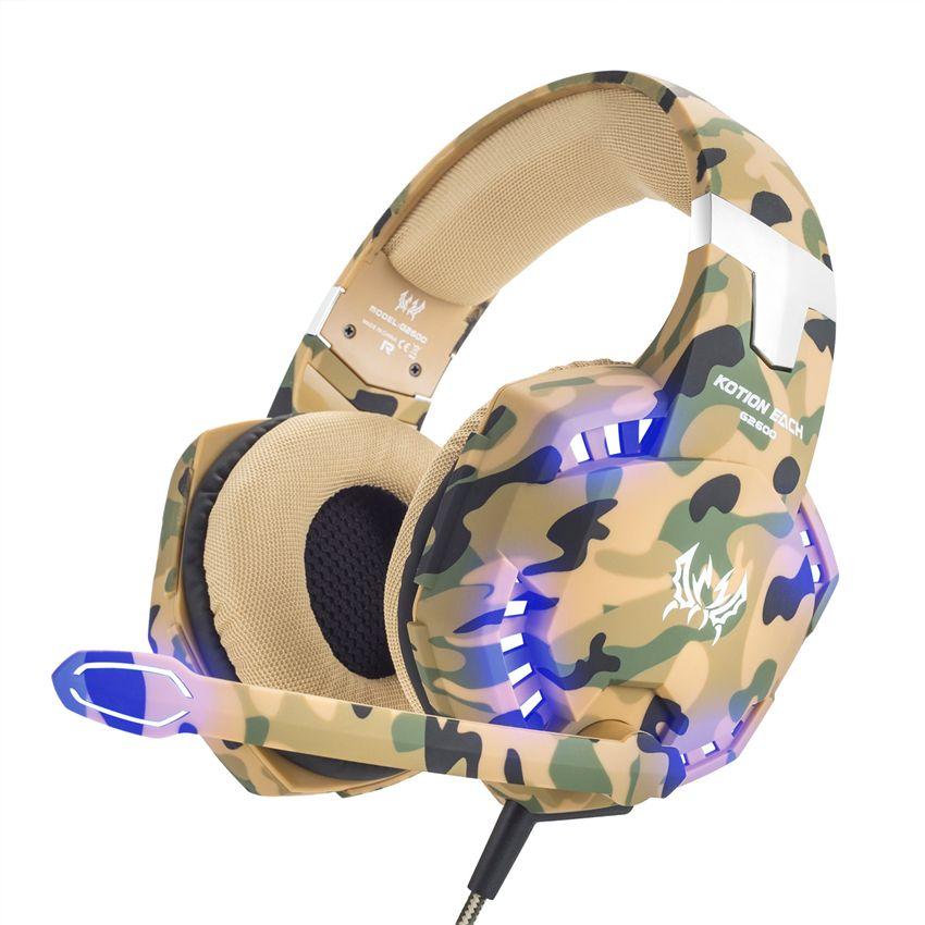 Led 3.5mm écouteur casque de jeu avec Microphone micro Gamer PC PS4 jeu stéréo casque de jeu avec Microphone pour ordinateur