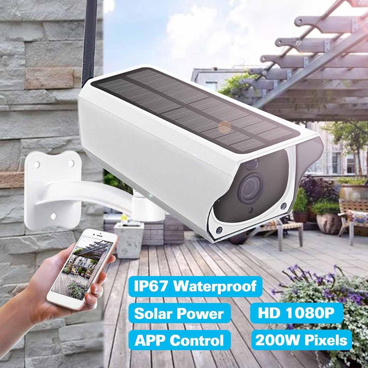 1080 P HD Wifi Drahtlose Kamera Home Security Surveillance Wasserdichte Outdoor Solar Kamera IR Nachtsicht Audio Kamera Lautsprecher