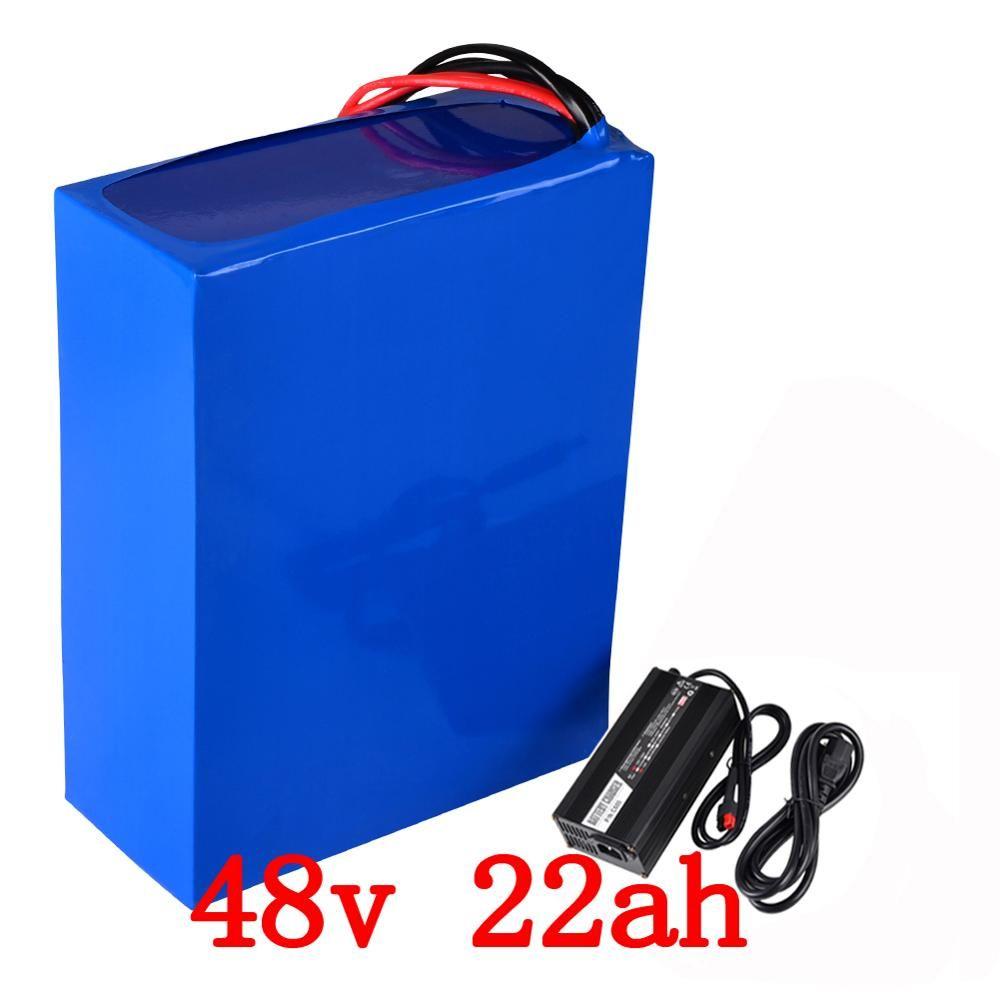 48 v 2000 watt batterie 48 v 22AH elektrische fahrrad batterie 48 v 22ah Lithium-ion batterie mit 50A BMS + 54,6 v 5A ladegerät freies gewohnheiten steuer