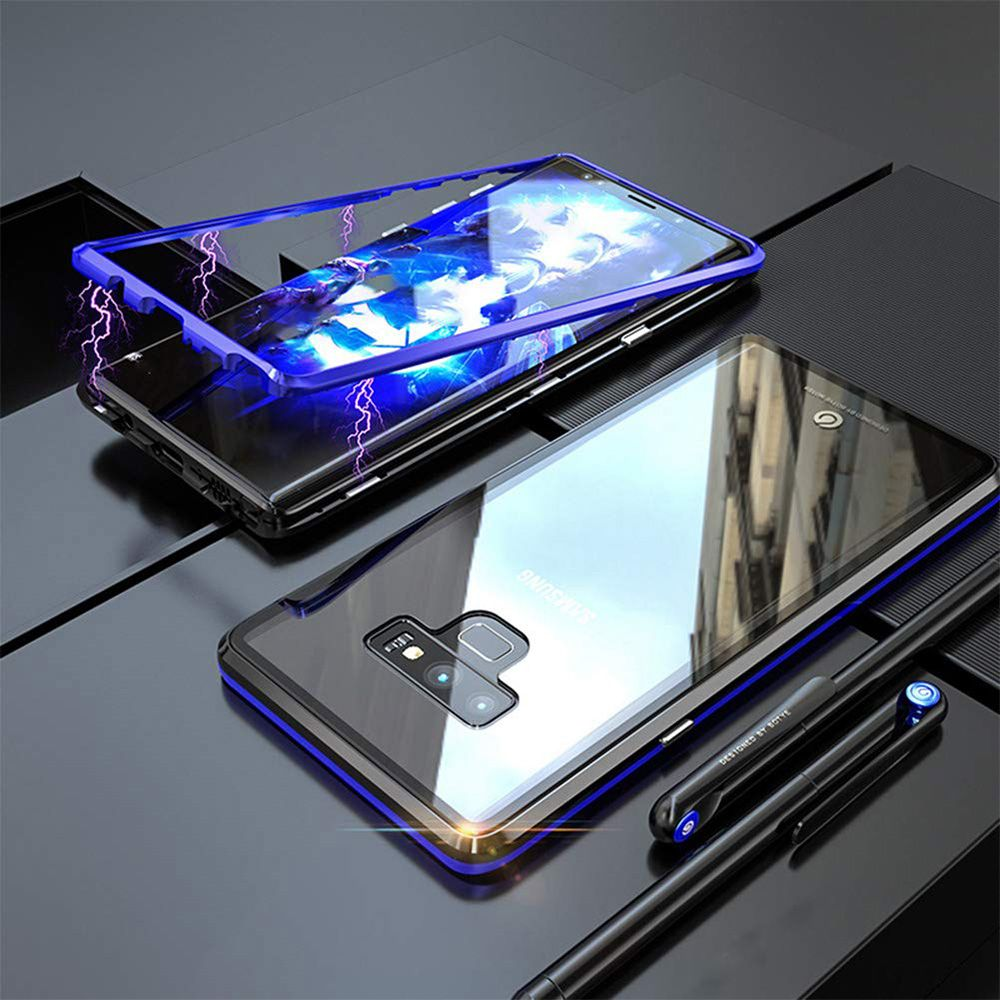 360 Magnetic Adsorption Cases for Samsung S9 Tempered Glass Back Magnet Cover for Galaxy S8 Plus S10 lite NOte 8 9 Case bumper