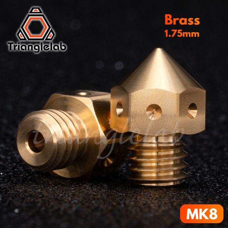 3PCS Top quality MK8 Nozzles for 3D printers hotend MakerBot Filament Head Brass Nozzles J-head extrusion 0.2/0.4/0.6/0.8MM