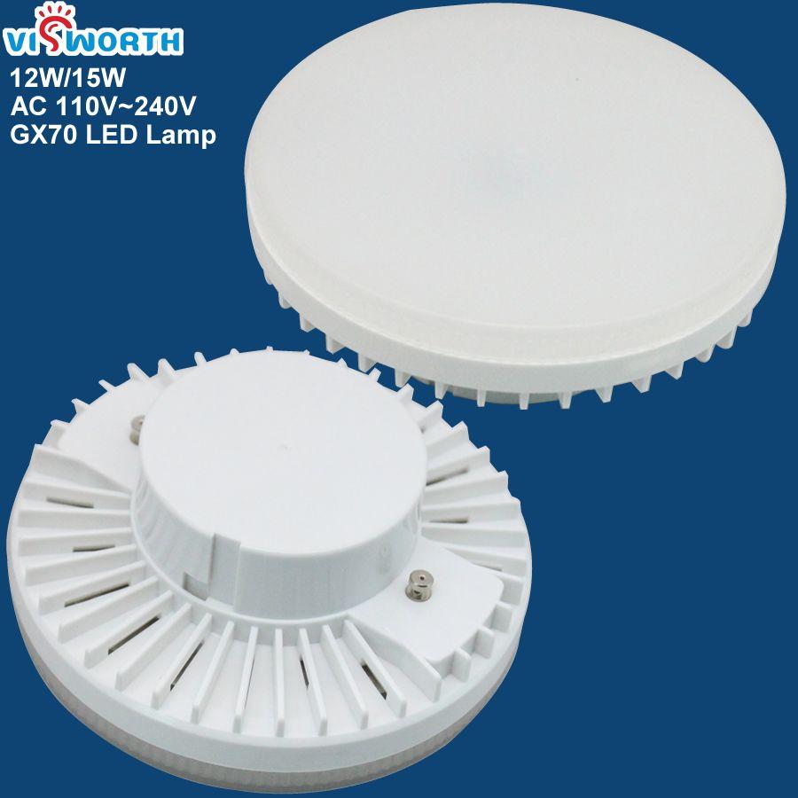 GX70 LED lampe 12 w 18 w LED Ampoule ac 110 v 220 v 230 v 240 v spotlight Chaud blanc Froid blanc 45 pcs smd2835 led lumière