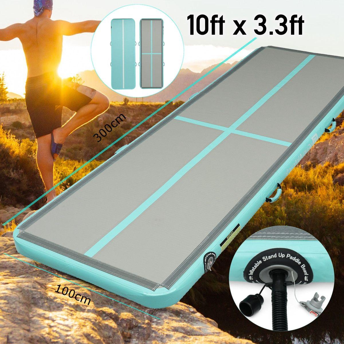 Newest 100x300x10cm Inflatable Tumble Track Trampoline Air Track Taekwondo Gymnastics Inflatable Air Mat