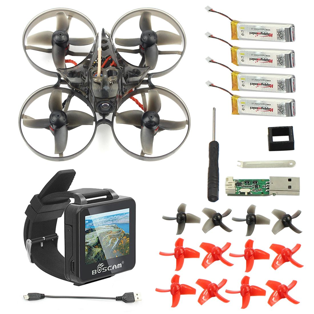 Mini Mobula 7 75mm BOSCAM BOS200RC FPV Watch Crazybee F3 Pro OSD 2S BWhoop Racing Drone Quadcopter BB2 ESC BNF Frsky Flysky