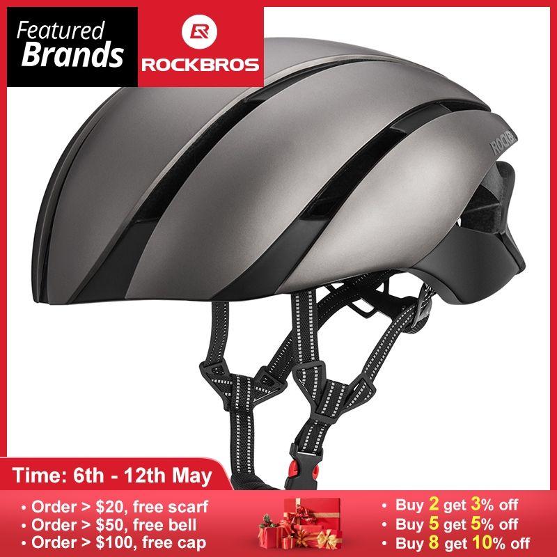 ROCKBROS Ultraleicht Fahrrad Helm Radfahren EPS Integral geformten Helm Reflektierende Mtb Fahrrad Sicherheit Hut Für Männer Frauen 57- 62 CM