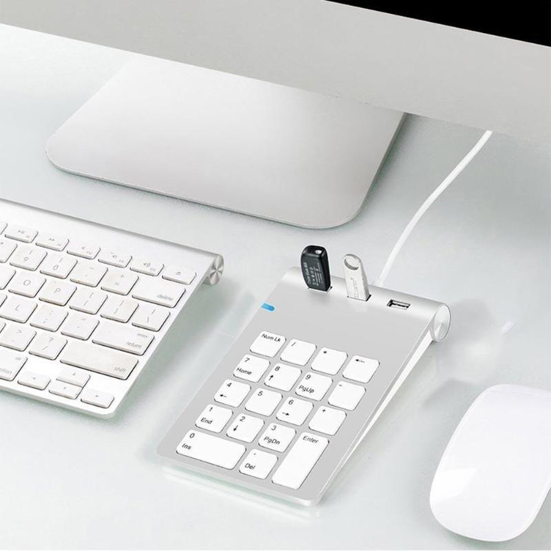 Rocketek USB clavier numérique 18 touches Mini USB 2.0 moyeux pour clavier numérique Ultra mince pavé numérique ordinateur portable ordinateur portable livraison directe