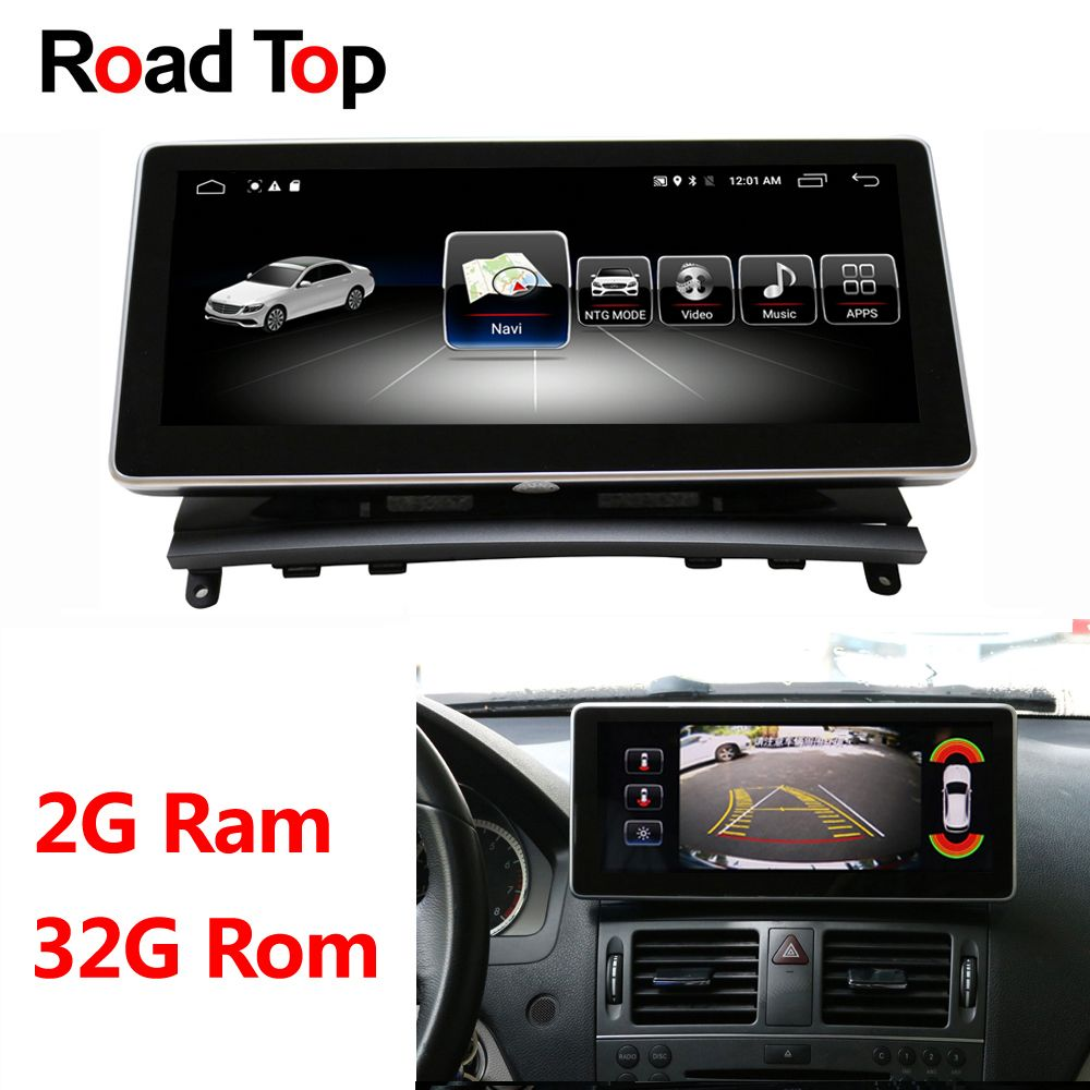 10,25 Android Display für Mercedes Benz C Klasse W204 2008-2010 Auto Radio Monitor GPS Navigation Bluetooth Multimedia bildschirm