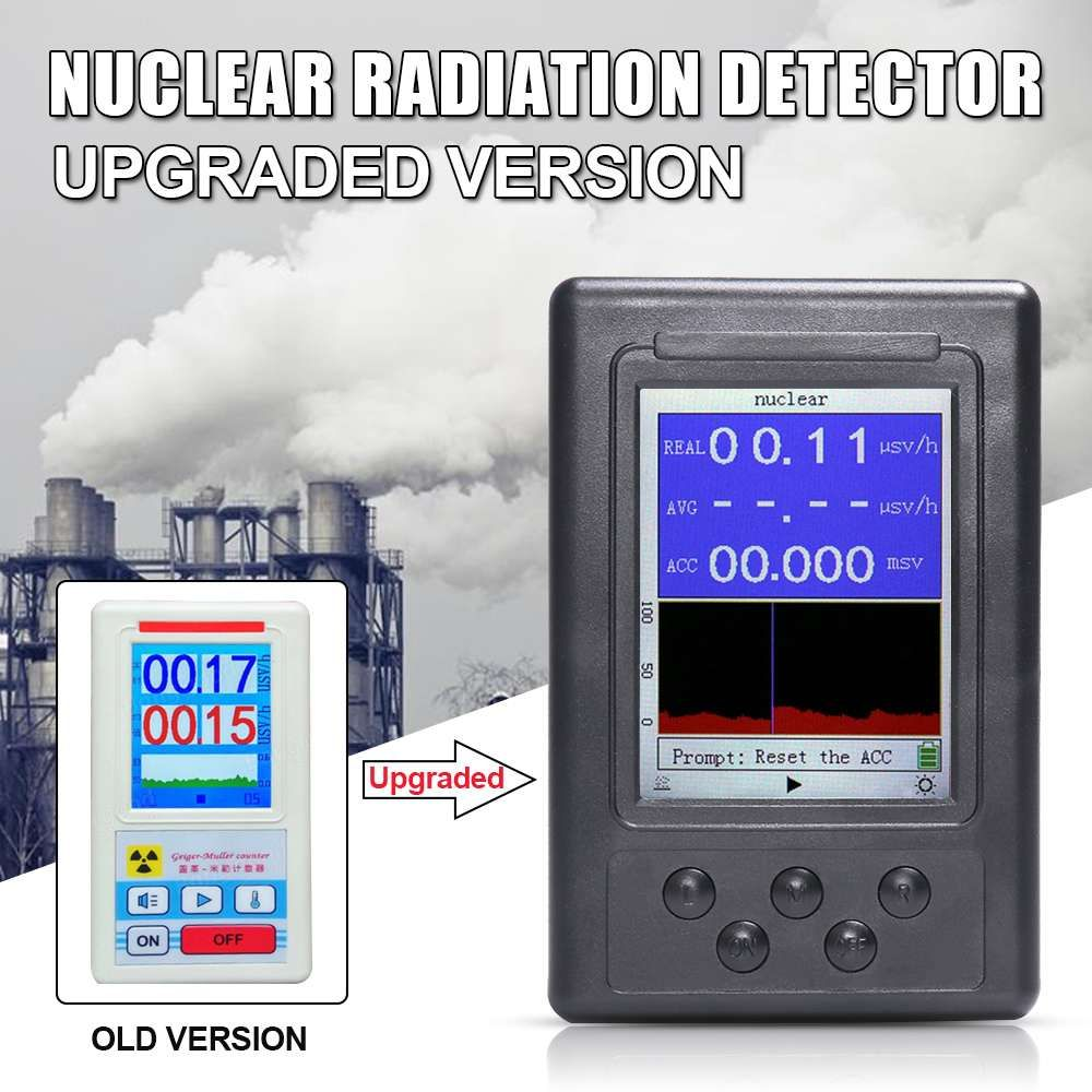 1Pcs Upgrade Geiger Counter Nuclear Radiation Detector Personal Dosimeter Marble Tester X-ray Display Screen Radiation Dosimeter