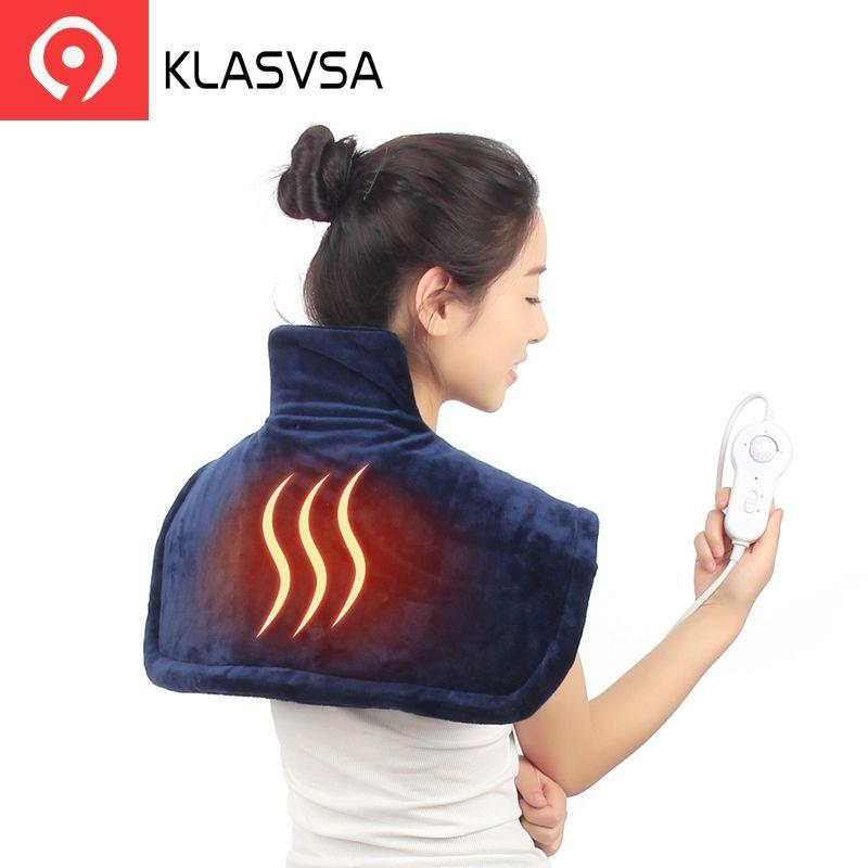 KLASVSA Électrique Chaud Épaule Chauffage Brace Soutien Cou Pad Cervicale Thérapie Physique Colonne Vertébrale Pour correcteur de posture de dos