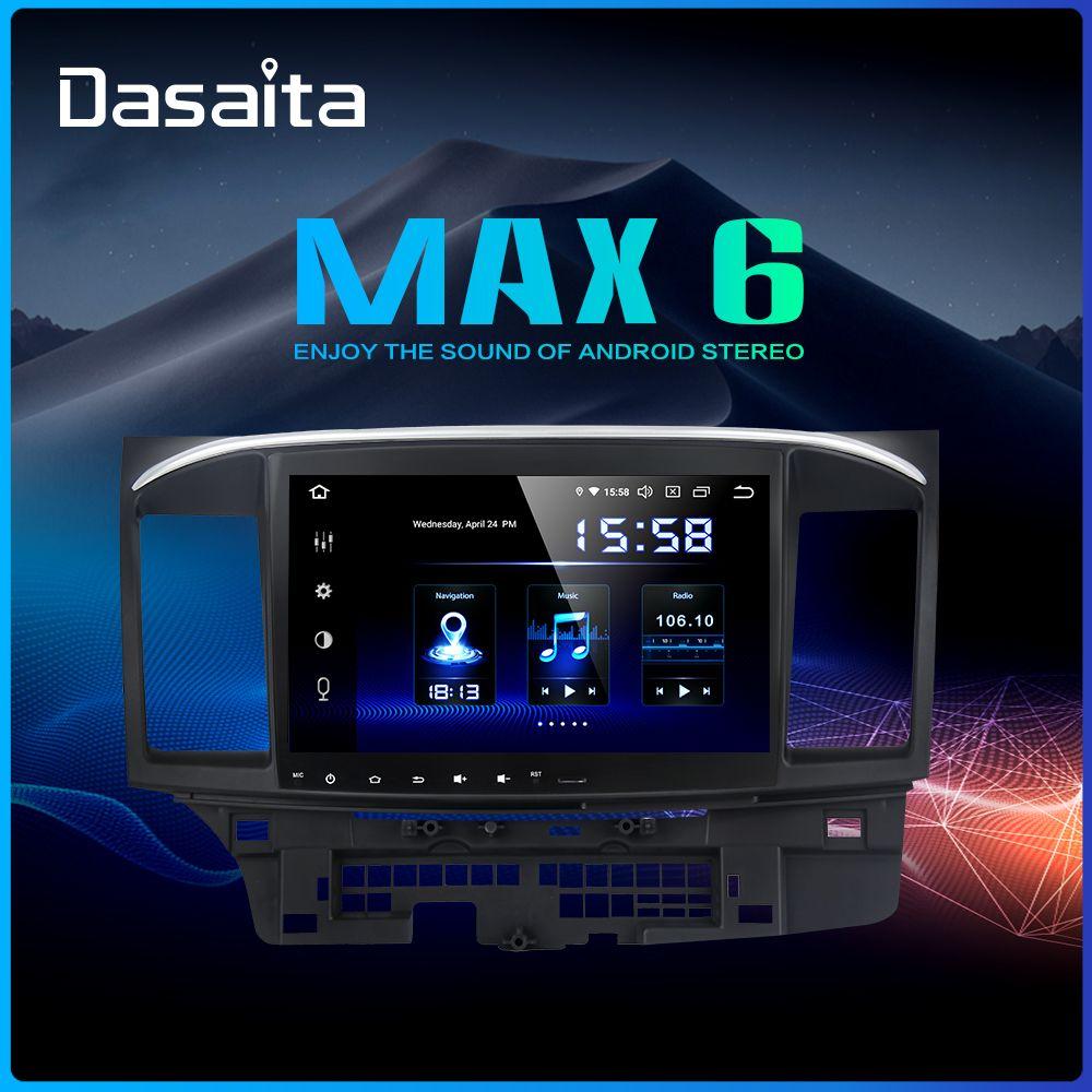 Dasaita Android 9.0 Auto Stereo DSP 10,2 Touch Screen für Mitsubishi Lancer 10 EVO Radio 1 Din 64G ROM 4G RAM Auto Bluetooth
