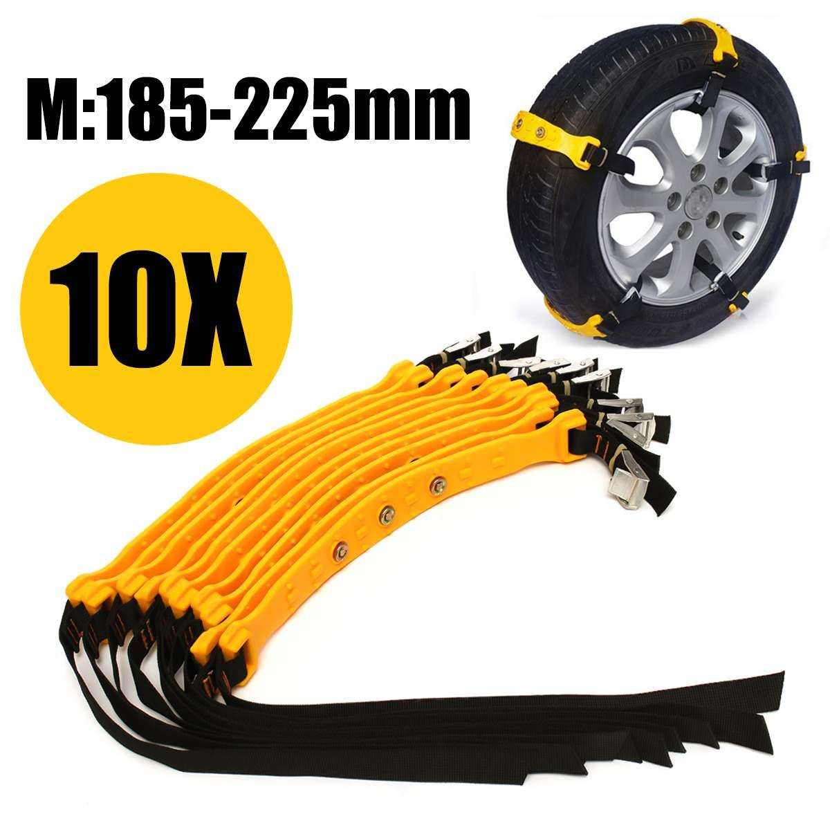 10x 20x Winter Car Tire Snow Adjustable Anti-skid Safety Double Snap Skid Wheel TPU Chains For Truck Car SUV