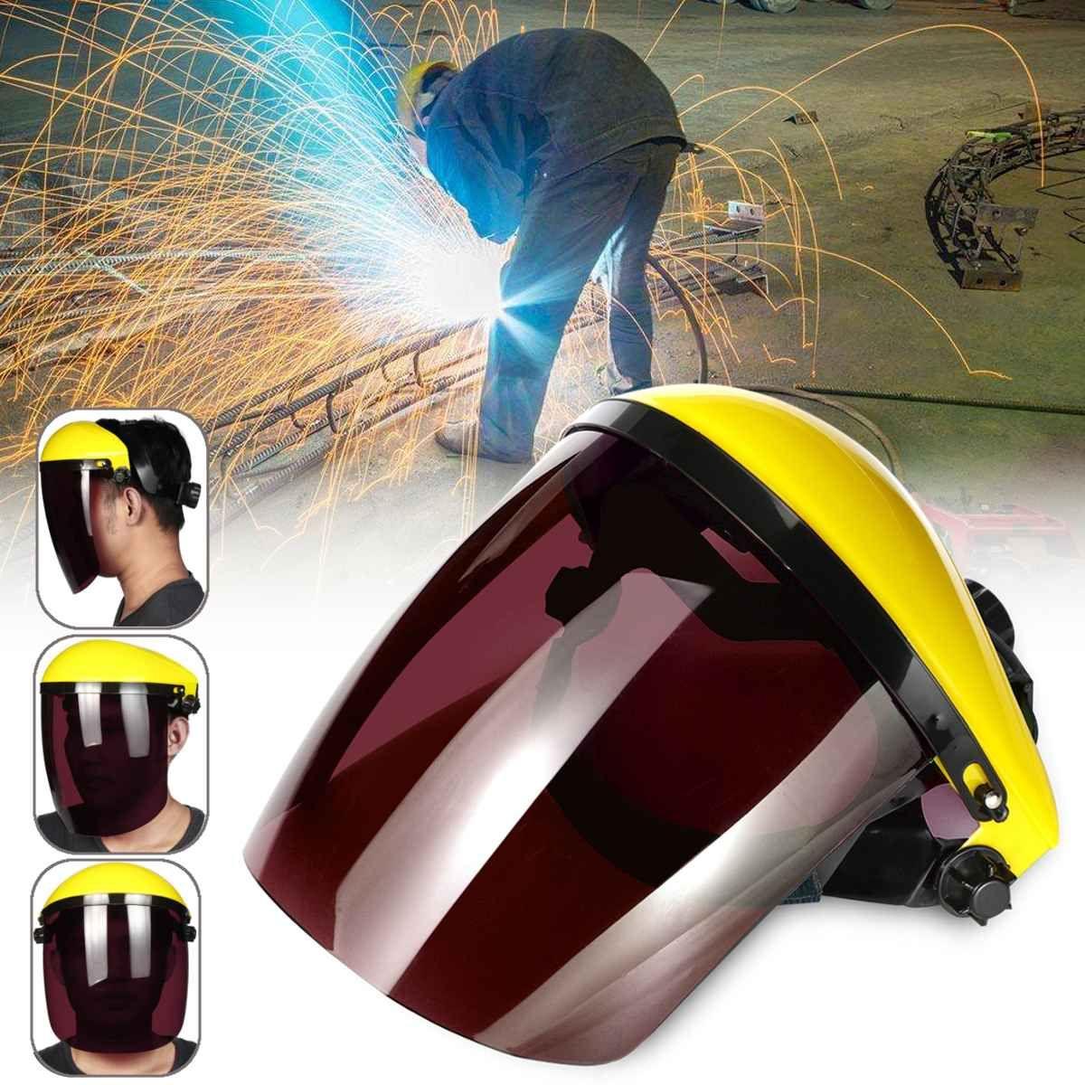 Voll Visier Sicherheit Arbeitskleidung Auge Schutz Werkzeug Klar Einstellbare Gesicht Maske Schild Schutzhülle Flip-up Visier Grau/Schwarz /grün/Braun