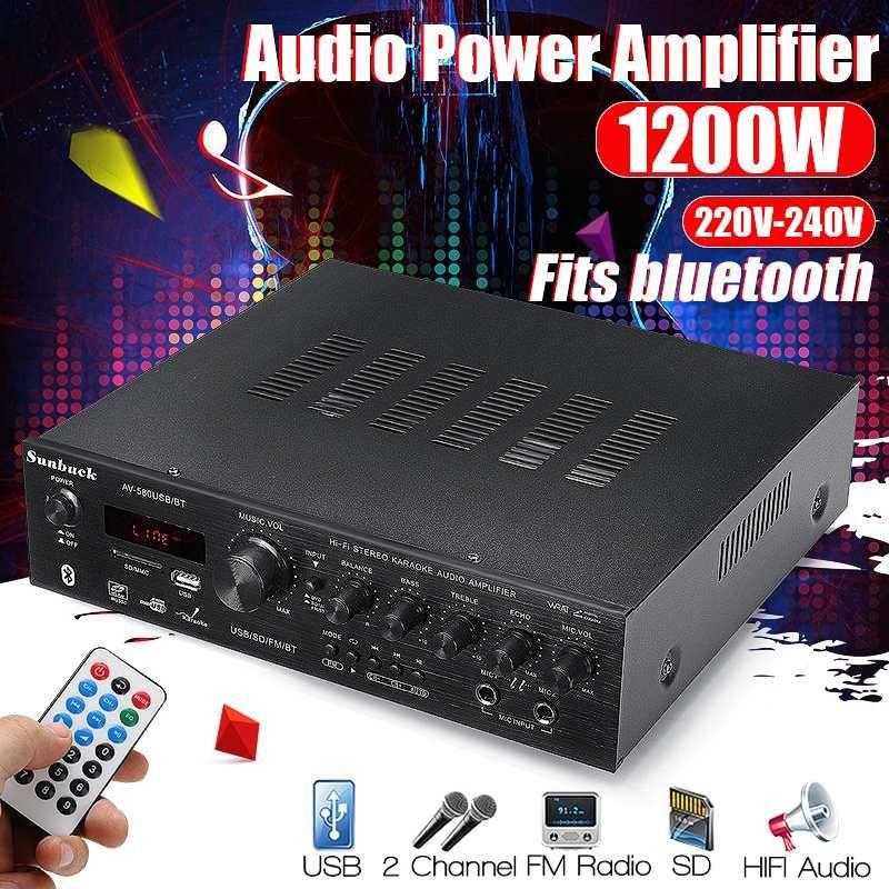 CLAITE USB FM bluetooth Audio Auto Stereo Verstärker Radio Hallo-fi 2 Kanal Digital Display Power Player mit Fernbedienung