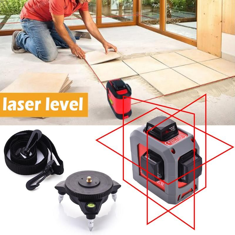 High Precision 12 Lines 3 Points Laser Level 360 Degree Cross Laser Levels Red Line Measuring Tool Construction Essential Tools