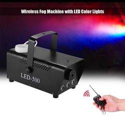 عالية الجودة تحكم لاسلكي 500 W LED الدخان آلة/RGB اللون LED الضباب آلة/دخان القاذف/المهنية مبيد مع أضواء LED